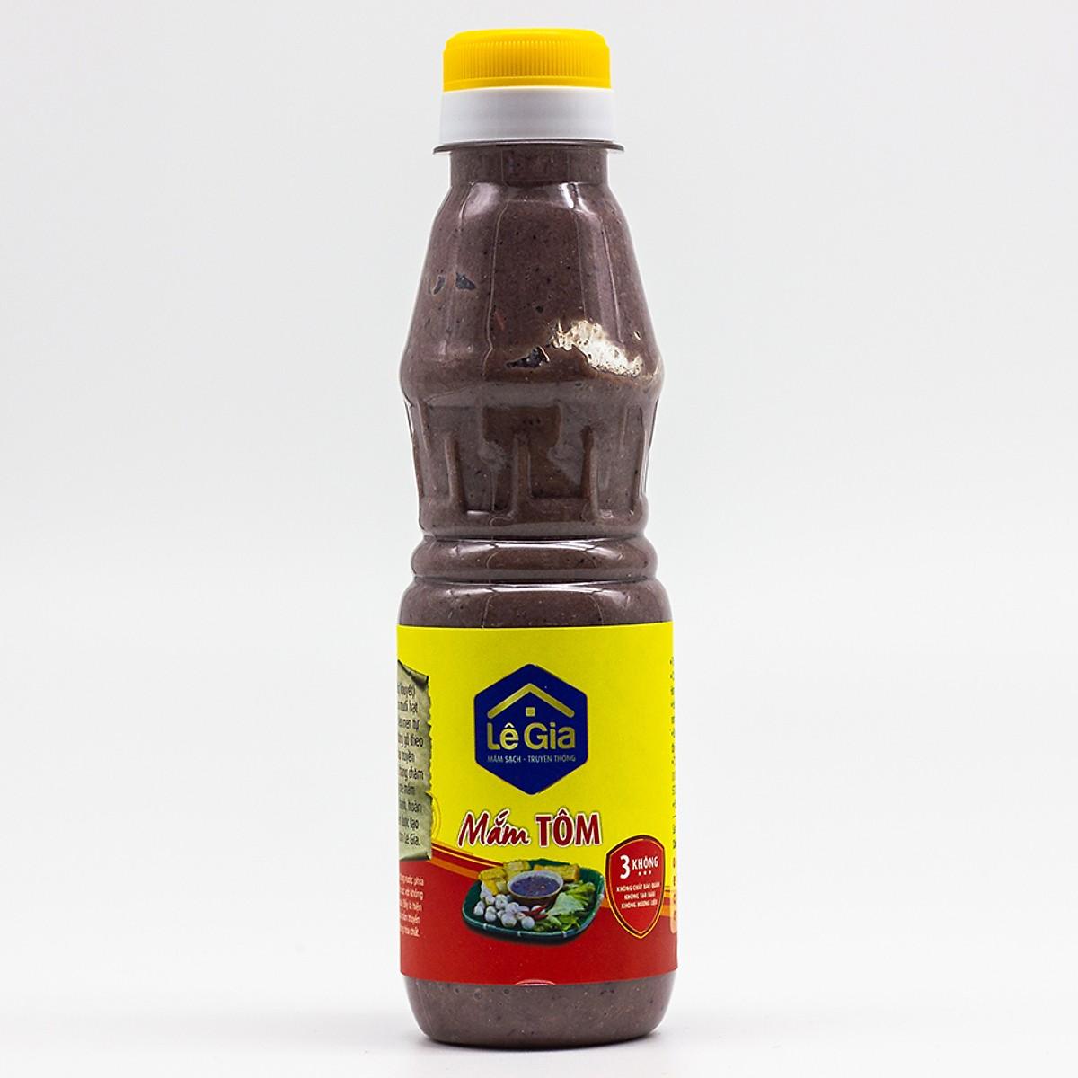 Mắm tôm ngon Lê Gia chai nhựa pet 280g0