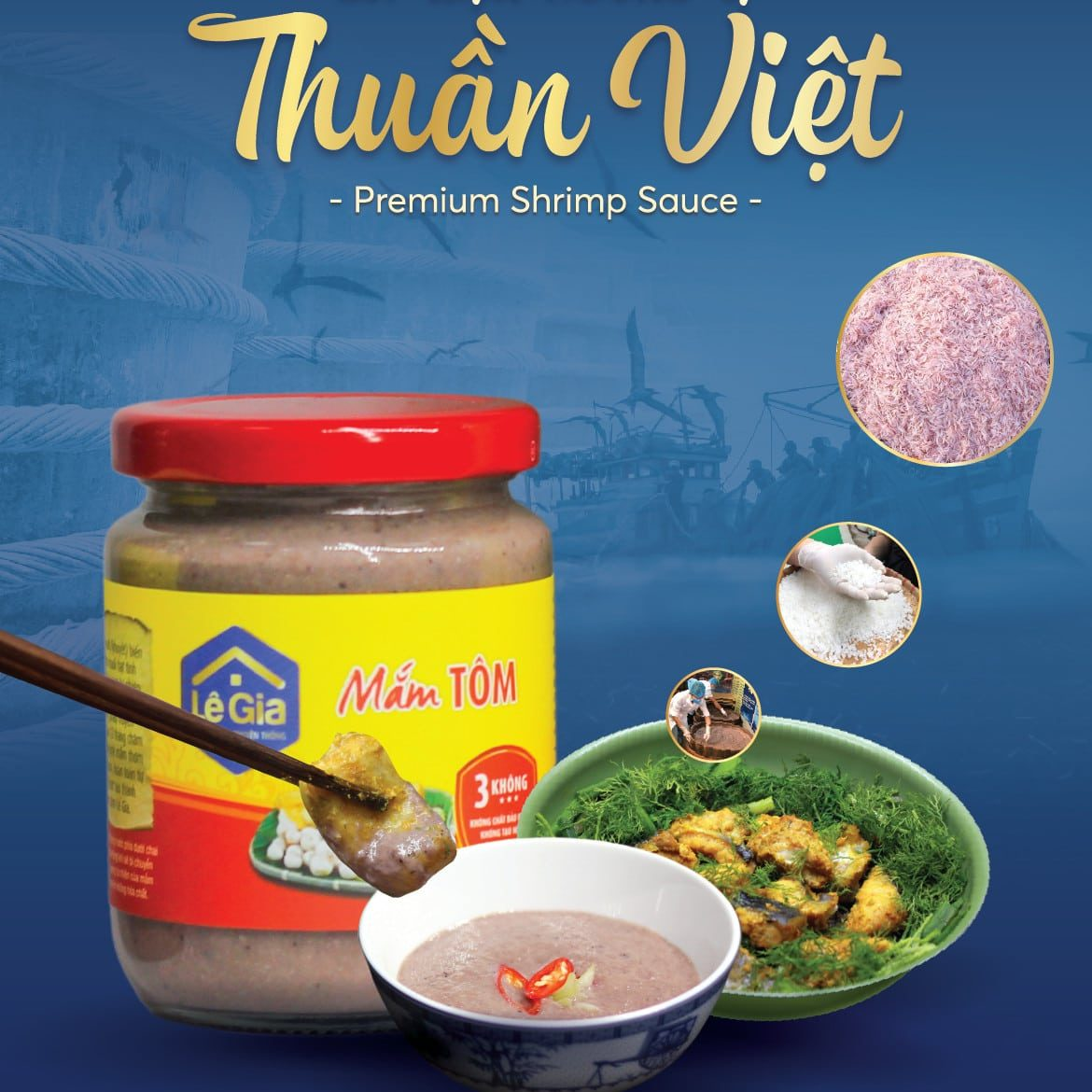 LE GIA TRADITIONAL SHRIMP PASTE FOR EXPORT0